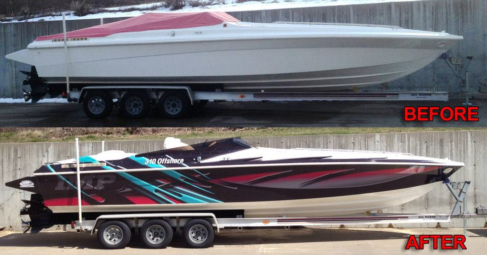 Offshore Boat Wrap | Peak Graphic Installs, LLC